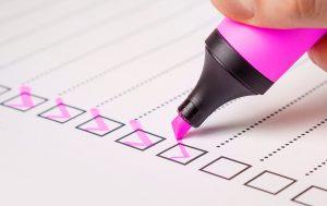 Checklist mail